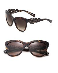 Dolce & Gabbana | Brown Filigree Arm 55mm Square Sunglasses | Lyst