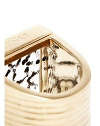 Vionnet - Metallic Pale Gold Glass Ring - Lyst