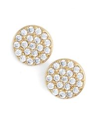 Nadri - Metallic 'geo' Small Stud Earrings - Lyst