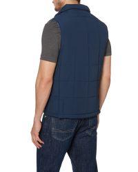 GANT | Blue Boardwalk Casual Full Zip Gilet for Men | Lyst