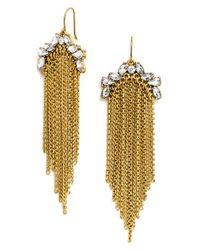 BaubleBar | Metallic 'garland' Tassel Drop Earrings - Antique Gold | Lyst