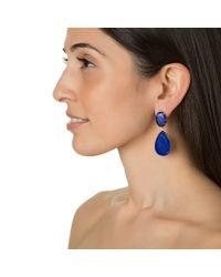 Bounkit | Blue Lapis Drop Earrings | Lyst
