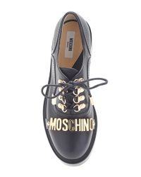 Moschino - Logo Lace Up Shoes Black - Lyst