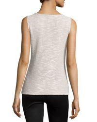 Lafayette 148 New York - White Knit Shell W/center Seam - Lyst