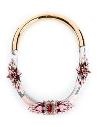Shourouk | Pink 'mamba' Necklace | Lyst