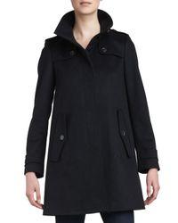 Burberry - Singlebreasted Swing Coat Black 12 - Lyst