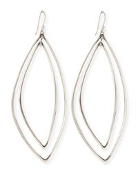 Alexis Bittar Fine | Metallic Marquise Light Silver Orbit Earrings | Lyst