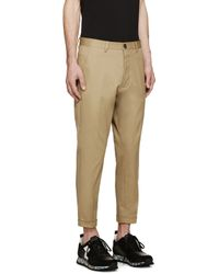 DSquared² - Natural Beige Twill Chinos for Men - Lyst