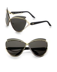 Dior - Black Exaggerated Two-tone Cat's-eye Sunglasses - Lyst