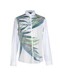 Just Cavalli - White Shirt for Men - Lyst