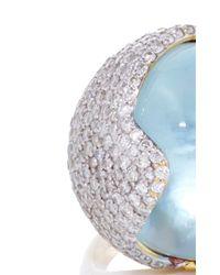 Kara Ross - Blue Smooth Gemstone Hydra Ring - Lyst