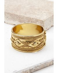 Forever 21   Metallic Ornate Etched Cuff   Lyst