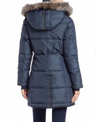 Pajar | Blue Convertible Coyote Fur-trimmed Quilted Coat | Lyst