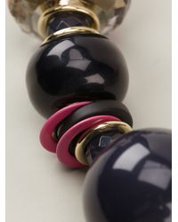 Emporio Armani | Purple Bead Necklace | Lyst