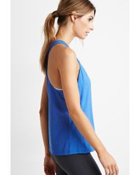Forever 21 | Blue Active Perforated Mesh Tank | Lyst