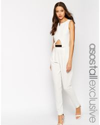 ASOS | Tailored Jumpsuit With Metal Bar - Black | Lyst