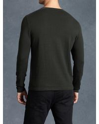 John Varvatos | Gray Ls Crewneck Sweater for Men | Lyst