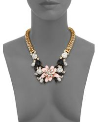 kate spade new york - Multicolor Glossy Petals Statement Bib Necklace - Lyst