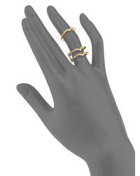 Phyne By Paige Novick | Metallic Stella Diamond & 14k Yellow Gold Winged Ring | Lyst