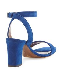 Tabitha Simmons - Blue Leticia Suede Sandals - Lyst