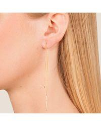Dutch Basics | Metallic Cylinder Drop Chain Earrings Gold | Lyst
