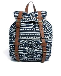 ASOS | Blue Backpack in Triangle Stripe Fabric for Men | Lyst