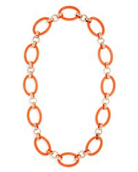 BaubleBar | Orange Circlet Links Strand | Lyst