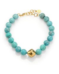 Nest | Blue Amazonite Beaded Necklace | Lyst