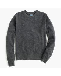 J.Crew - Black Brushed Fleece Sweatshirt for Men - Lyst