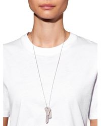 Carolina Bucci - Metallic Sparkly White-Gold Looking Glass Necklace - Lyst