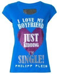 Philipp Plein - Black 'i Love My Boyfriend' T-shirt - Lyst