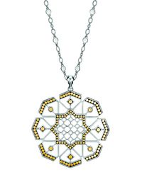 John Hardy | Metallic Dot Gold & Silver Sun Pendant Necklace | Lyst