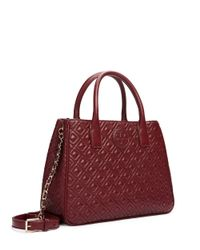 Tory Burch - Red Marion Quilted Tote - Lyst