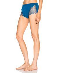 Fleur du Mal - Blue Rose Lace Cami Short - Lyst