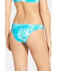 Volcom - Blue 'graffiti Beach' Cheeky Bikini Bottoms - Lyst