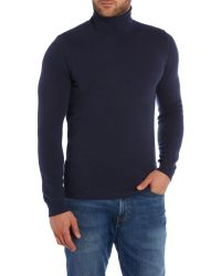 Sisley Men | Blue Plain Roll Neck Pull Over Jumpers for Men | Lyst