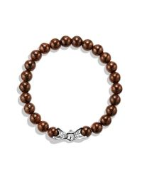 David Yurman - Metallic Spiritual Beads Bracelet with Bronzite - Lyst
