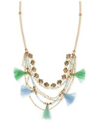 Lonna & Lilly - Metallic Gold-tone Multi-layer Tassel Statement Necklace - Lyst