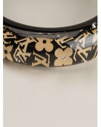 Louis Vuitton   Black Logo Bracelet   Lyst