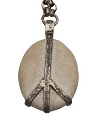 Lou Zeldis - Gray Peace Pebble Necklace - Lyst