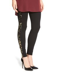 Lyssé | Black Sequin Ponte Leggings | Lyst