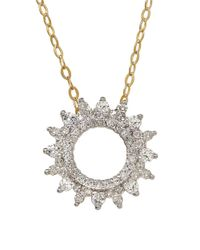 Lord & Taylor | Metallic Diamond And 14k Yellow Gold Sunburst Pendant Necklace | Lyst