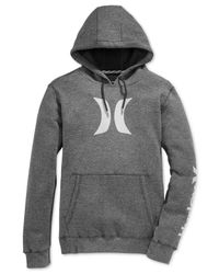 Hurley | Black Icon Fleece Hoody for Men | Lyst