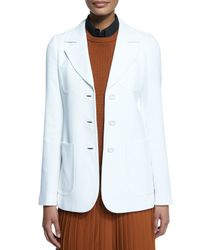 Michael Kors - White Patch-pocket Three-button Jacket - Lyst