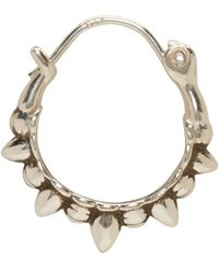 Pamela Love | Metallic Silver Tribal Spike Hoop Earrings | Lyst