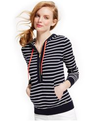 Tommy Hilfiger - Blue Striped Hoodie - Lyst