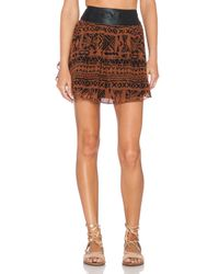 Amuse Society - Brown Preston Mini Skirt - Lyst