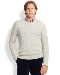 Polo Ralph Lauren | Gray Cable-knit Cashmere Sweater | Lyst