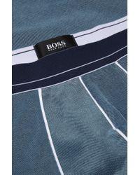 BOSS - Blue 'cyclist Piqué'   Stretch Cotton Trunks for Men - Lyst