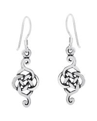 Aeravida - Metallic Exquisite Celtic Drop .925 Silver Dangle Earrings - Lyst